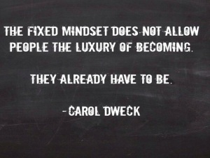 I think that MINDSETS have much to do with it. For those with FIXED MINDSETS, change and risk create the possibility for failure and failure reflects on intellect and ability. A FIXED MINDSET does not allow people the luxury of becoming. They already have TO BE!