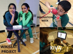 •WIKISEAT -Yes, students used power tools and created their own furniture.   • INNOVATION WEEK-Yes, students spent a whole week learning about whatever they were interested in.   •And YES, we are KIVA NINJAS too! – 53 loans worth over $1300 so far!